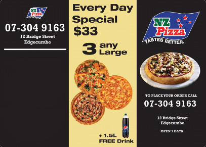 Pizza deals in Edgecumbe